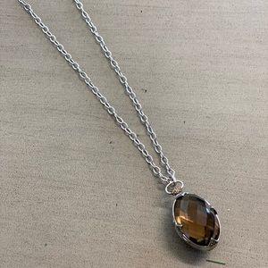 """Smoky Quartz Sapphire 30"""" necklace"""